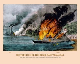 Destruction of the Rebel Ram 'Arkansas'